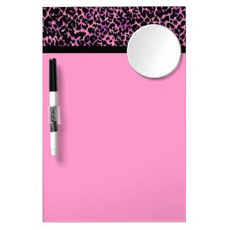 Motif rose de guépard tableaux effaçables blancs