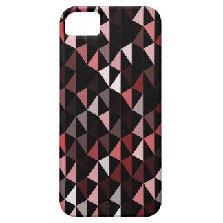 motif rouge 02 de pyramide étuis iPhone 5