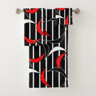 Motif rouge contemporain de noir moderne d'abrégé