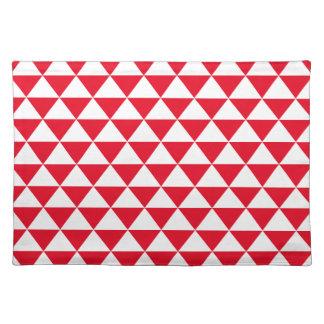 Motif rouge de triangle set de table
