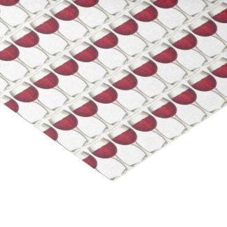 Motif rouge d'impression de vinothèque de papier mousseline