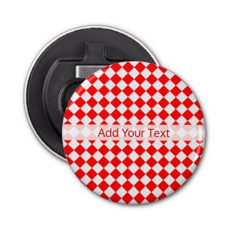 Motif rouge et blanc de diamant par ShirleyTaylor Décapsuleur