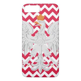 Motif rouge et blanc d'Eagle polonais de Chevron Coque iPhone 7 Plus