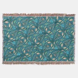 Motif rustique floral de mariage élégant beau couvre pied de lit