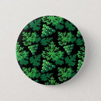motif sans couture de feuille avec des raisins badge rond 5 cm