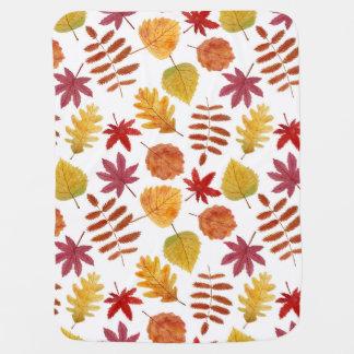 Motif sans couture de feuille d'automne couverture pour bébé
