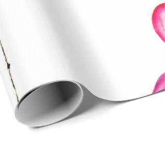 Motif sans couture de flamant rose d'aquarelle papier cadeau
