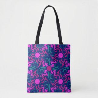 Motif sans couture de vecteur d'étoile rose bleue tote bag