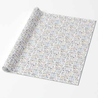 Motif sans couture d'hiéroglyphes papiers cadeaux