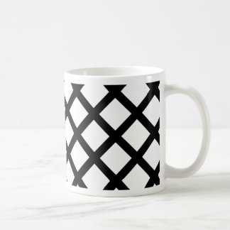 Motif simple noir et blanc mug
