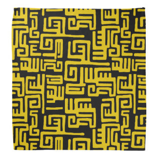 Motif tribal d'Africain noir jaune minimal Bandana