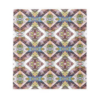 Motif tribal en pastel chaud bloc-note