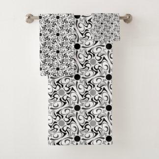 Motif tribal noir et blanc de grain de riz
