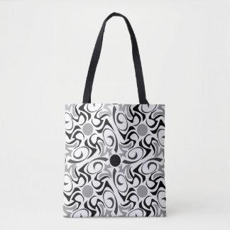 Motif tribal noir et blanc de grain de riz tote bag