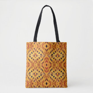 Motif tribal orange de formes sac