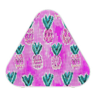 Motif tribal rose d'ananas d'aquarelle haut-parleur bluetooth