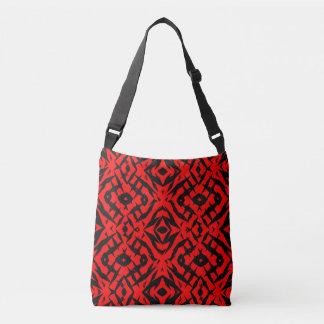 Motif tribal rouge de formes sac