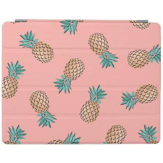 motif tropical d'ananas de feuille d'or d'été protection iPad