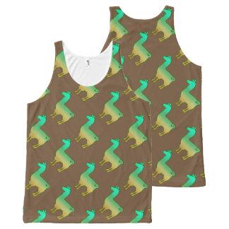 Motif tropical vert de débardeur de lama