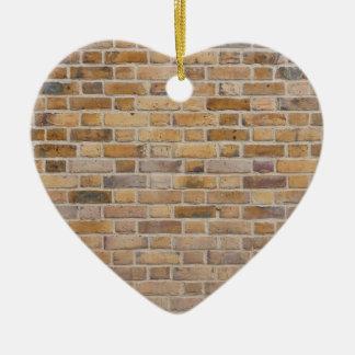 Motif urbain carrelé de texture de mur de briques ornement cœur en céramique