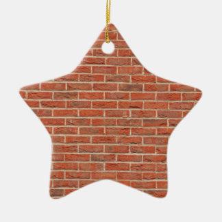Motif urbain carrelé de texture de mur de briques ornement étoile en céramique