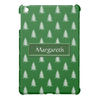 Motif vert de forêt coque iPad mini