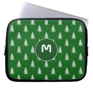 Motif vert de forêt trousses pour ordinateur portable