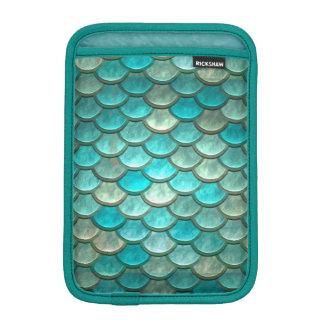 Motif vert de menthe d'échelles de poissons de housse iPad mini