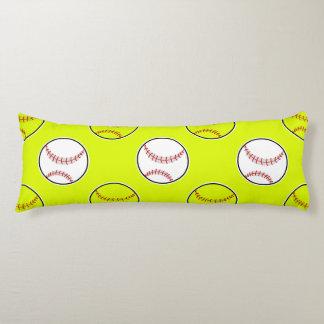 Motif vert du base-ball coussins longs
