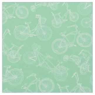 Motif vert en bon état de bicyclette de cru tissu