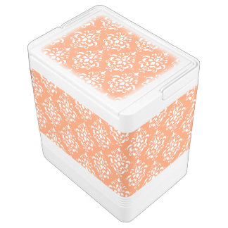 Motif vintage blanc orange 1 de damassé glacière igloo