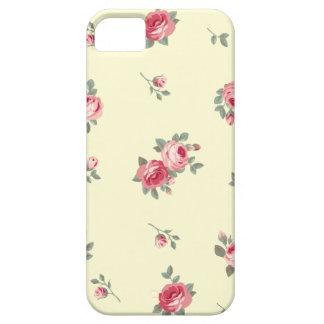 Motif vintage de conception de fleur étui iPhone 5