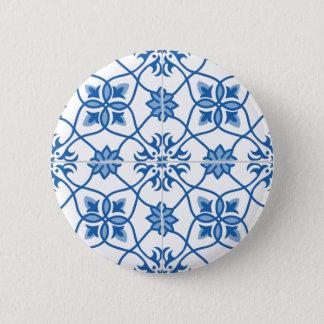 Motif vintage de tuile d'Azulejo de Portugais Badge Rond 5 Cm