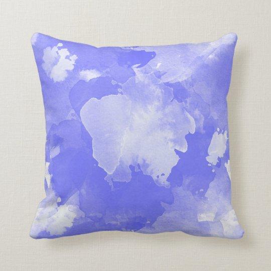 motif violet d'aquarelle coussin