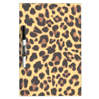 Motifs de peau d'animal d'empreinte de léopard tableau effaçable à sec