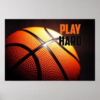 Motivation de basket-ball - jeu dur par le
