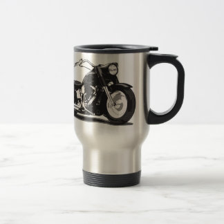 Moto noire de Harley Mug De Voyage