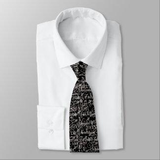 Mots de cravate de mariage d'affection