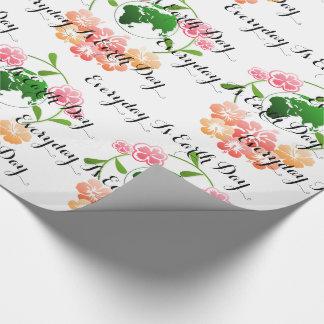 Mots de inspiration, papier d'emballage floral papier cadeau