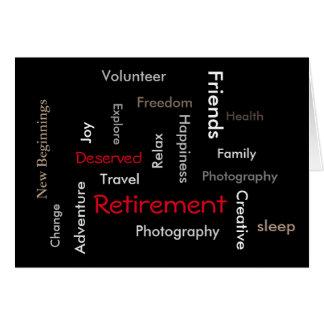 Mots de Partie-Personnaliser de retraite sur Carte De Vœux