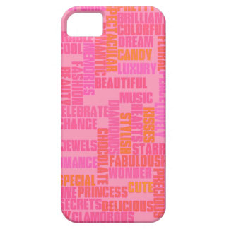 mots girly, rose mignon coque iPhone 5 Case-Mate