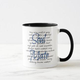 Mots pour l'âme s?ur mug