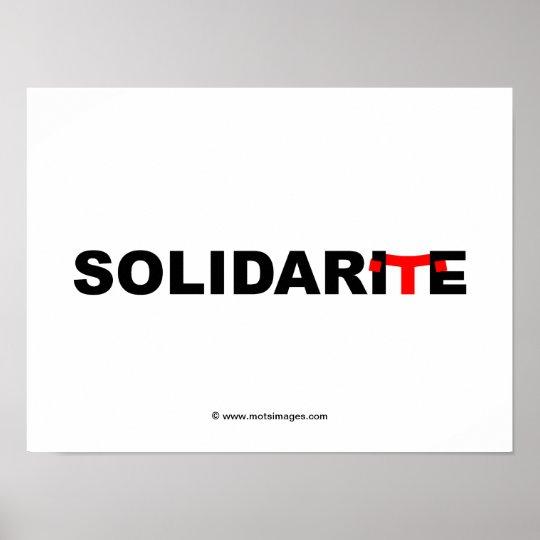 © motsimages : Solidarité Poster