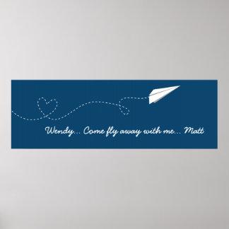Mouche veneze avec moi avion de papier