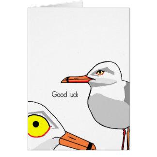 Mouettes de bonne chance carte de vœux