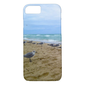 Mouettes sur la couverture d'iPhone de plage Coque iPhone 8/7