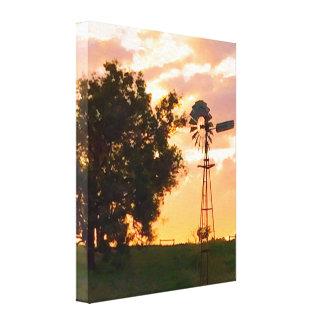 Moulin à vent à la copie de toile de bout droit de