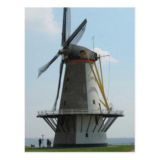 Moulin à vent de la Hollande en Zélande, Pays-Bas Carte Postale