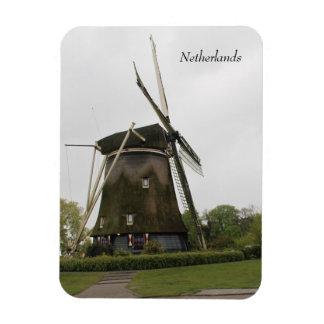 Moulin à vent, Hollande, Pays-Bas, Amsterdam, Magnet Flexible
