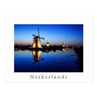 Moulins à vent à la carte postale néerlandaise